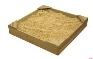 Wooden sand pit + cover 1m x 1m £9.99 Was £59 @ Climbing Frames UK