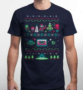 Guardians of the Galaxy Christmas T-Shirt £8.00 + £2.50 P&P (£2 off until the end of today - Nov 28th - using code Black-Friday) @ qwertee.com