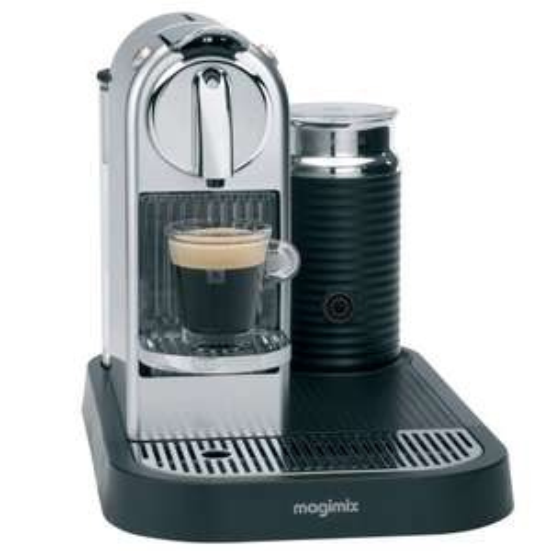 debenhams exclusive nespresso citiz and milk 11307 chrome coffee machine with black. Black Bedroom Furniture Sets. Home Design Ideas