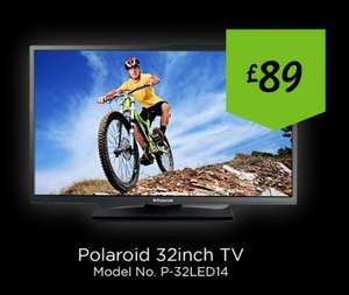 Polaroid 32 inch TV (P-32LED14) Only £89.00 @ Asda In-Store Black Saturday