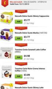 coffee pods mix and match 3 for £10 @ Asda