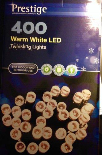 400 Led Twinkling Christmas Lights £14.99 @ Home Bargains