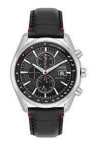 Citizen Men's Eco Drive Watch with Black Dial Analogue Display and Black Leather Strap CA0369-11E
