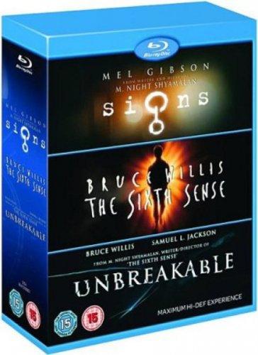 The sixth sense (1999)  /  Unbreakable (2000)  /  Signs (2002) 3 disc    BLU-RAY boxset £6.74 at wowhd