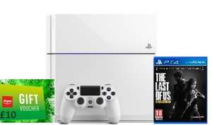 White PS4 with The Last Of Us (Physical Copy) Plus a Argos £10 gift card. Argos