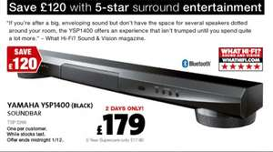Yamaha ysp1400 sound bar £179.00 @ Richer Sounds