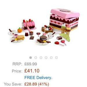 Mother garden childrens wooden cakes and sweets in a lovely box was £69.99 now £41.10 @ Amazon