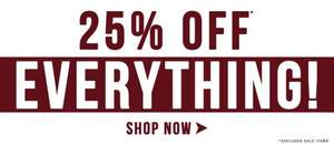 25% off Everything - Ark Clothing