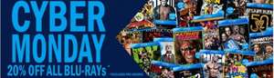 WWE blu ray cyber Monday deal 20% off today only (excludes pre-orders)