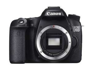 Canon EOS 70D Body Only Camera - Black (20.2MP) 3.0 inch LCD - Amazon - £699