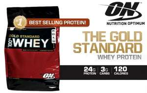 ON Gold Standard 100% Whey Protein All Flavours, 4.5 Kg £71.93 Del @ uk.bodybuilding.com
