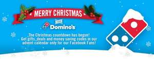 Dominos Advent Calendar Daily Deals, £10 off £25 (Day 1)