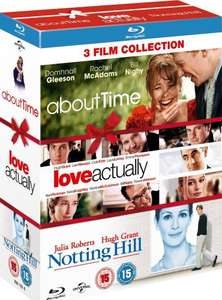 Lowest Ever Amazon Price. Not a Lightning deal! About Time / Love Actually / Notting Hill (Triple Pack) [Blu-ray] [Region Free] £9.00 Delivered @ Amazon  (free delivery £10 spend/prime)