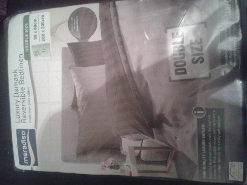 luxury reversible 100% cotton bed linen £12.99 @ Lidl