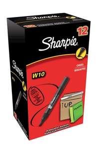 Sharpie W10 Chisel Tip Permanent Marker Black - Box of 12 £5.79!!! Amazon  (free delivery £10 spend/prime)