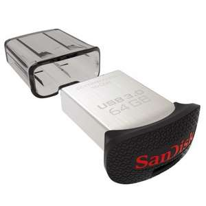 SanDisk Ultra Fit™ CZ43 64GB USB 3.0 Low-Profile Flash Drive Up To 130MB/s Read £19.91 @ Amazon.com