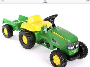 Halfords John Deere tractor & trailer pedal ride on - £49