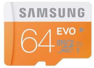 Samsung Memory 64GB Evo MicroSDXC UHS-I Grade 1 Class 10 Memory Card without Adapter - Sold by Stewie_SDs and Fulfilled by Amazon - now same price direct from Amazon - £21.99