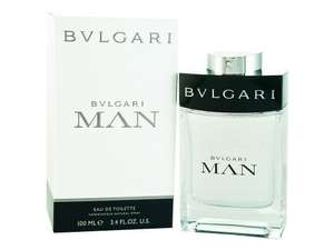 Bvlgari Man Eau De Toilette Spray for Him 100ml £25.90 fulfilled by Amazon