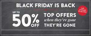 BHS Black Friday Deals now available plus FREE DELIVERY