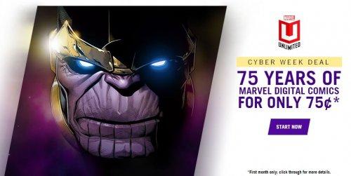Marvel Digital Comics - Unlimited Access Deal 45p