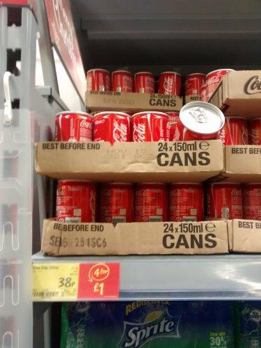 mini coca cola cans 150ml  4 for £1 @ asda