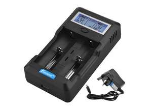 Foxnovo F-2 2-Slots Li-ion Ni-MH Ni-CD LCD Intelligent Battery Charger 20% off £19.99 sold by FoxnovoStore and Fulfilled by Amazon.