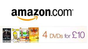 Choice of 4x DVDs for £10 @ Amazon (Life of Pi, Little Miss Sunshine, Naruto, Akira, Epic, Hulk, AVP, Simpsons + loads more)