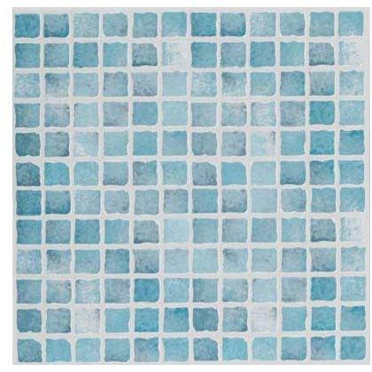 6 Pack Textured Vinyl Tile Blue Mosaic 305 x 305mm £2 @ Homebase.