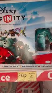Disney Infinity Starter Pack PS3 reduced to clear from £52 now £18.50 but scanned £15 at the till @ Tesco Springhill (Still showing £52 @ Tesco Direct)