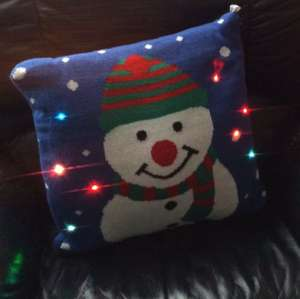 Light up Xmas cushion £6 primark