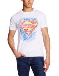 Joystic Junkies Superman Men's Crayon Crew Neck Short Sleeve T-Shirt £7.99 @ Amazon