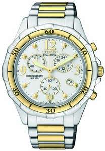 Citizen Eco-Drive Women's Quartz Watch with White Dial Chronograph Display and Silver Stainless Steel Bracelet FB1354-57A £49.99 Amazon (RRP £299.99)