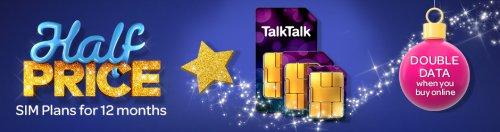 Talk Talk £3.75 sim only TCB cashback £68.25 12 months contract (TalkTalk customers only)