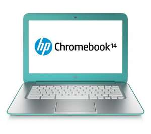 "HP 14-q031ea 14"" Chromebook (4GB RAM, 16GB HDD) -Wifi, Turquoise -Refurb Grade A"