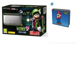 Nintendo 3DS XL Silver with Luigi's Mansion 2 + Mario Folio Kit @ GAME.co.uk for £149.99 (+1% Quidco or 2.1% TCB)