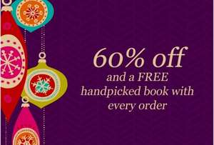60% off and a free book with each order at Canongate.tv