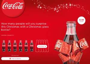 [Limited Edition] Coca-Cola Coke Bottle with Christmas Bow Feature - Nice stocking filler / keepsake - £6.98 delivered