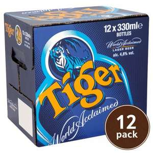 Tiger beer case of 12 £9 @ Tesco