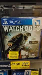Watch Dogs PS4/XBox One £23.50 @ Tesco (instore and online)