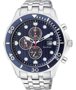 Citizen Men's Eco-Drive Blue Dial Chronograph Watch.226/2822 £84.99 at Argos