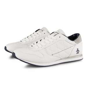 Original Penguin Full Leather Embroidery Trainers £24.99 @  blue-thirteen  (ebay)