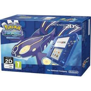 Nintendo 2DS Console and Pokemon Alpha Sapphire (Blue Skeleton) £99 @ Tesco Direct (Using Code/Free Game Download For Registering Console)