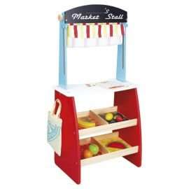 Carousel Wooden Market Stall with Fruit Set £7.50 at Tesco Crewe
