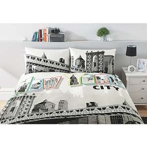 George Asda Home Neon New York Double Duvet Set £7.50 free click&collect
