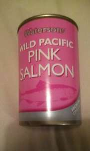Home Bargains tinned wild pink salmon £1.38
