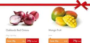 Oaklands Red Onions (750g) - 39p & Mango - 79p Each @ Lidl...