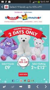 selected bears up to 45% off @ Buildabear