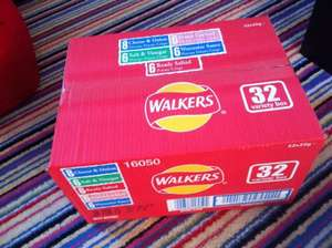 32 pack walkers crisps box £3.00 @ Premier Stores