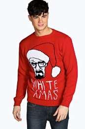 Breaking Bad Heisenberg Christmas Jumper £20 @ Boohoo.com